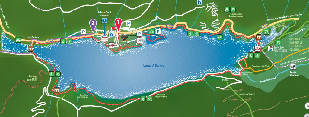 mappa lago di Barcis